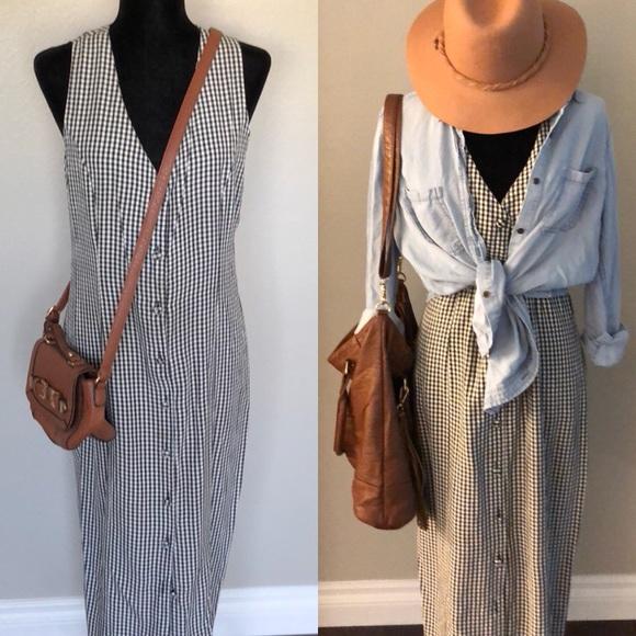 74ccdfae7473 SHA SHA Collection Dresses | Vintage 90s Maxi Gingham Dress | Poshmark